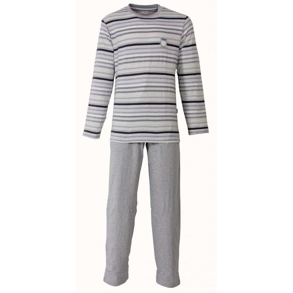 M.E.Q Heren pyjama MEPYH1302B-Grijs