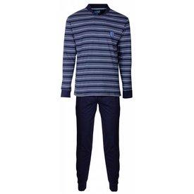 M.E.Q Heren pyjama MEPYH2406A-Blauw-RM