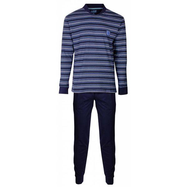 M.E.Q Heren pyjama MEPYH2406A-Blauw gestreept