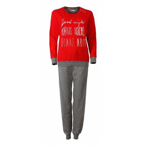 Dames pyjama IRPYD2509A-Rood-E6