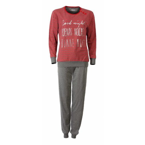 Dames pyjama IRPYD2508A-Rood-J8