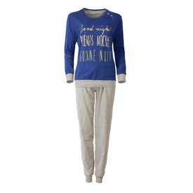 Irresistible Dames pyjama IRPYD2509B-Blauw-TR8