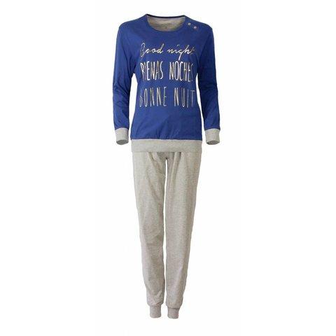 Dames pyjama IRPYD2509B-Blauw-TR8