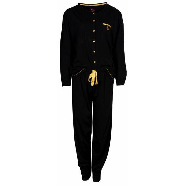 Medaillon Dames pyjama MEPYD2401A-Zwart-O9