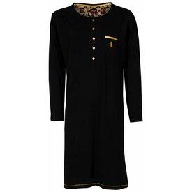 Medaillon Dames nachthemd MENGD2401A-Zwart-O8