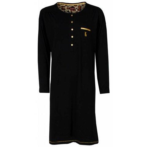 Dames nachthemd MENGD2401A-Zwart-P8