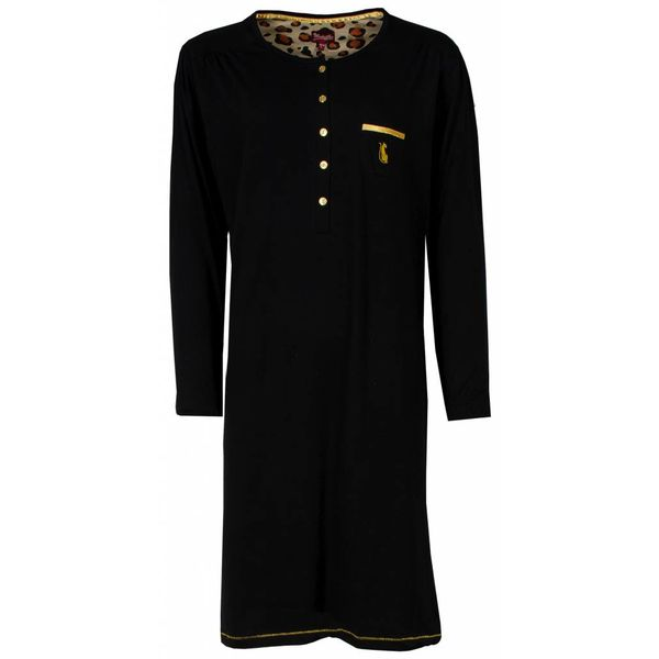 Medaillon Dames nachthemd MENGD2401A-Zwart-P8