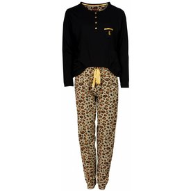 Medaillon Medaillon Dames Pyjama Zwart Tijger
