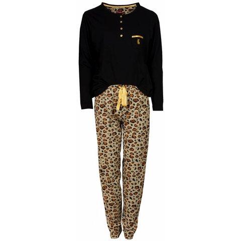 Medaillon Dames Pyjama Zwart Tijger MEPYD2402A
