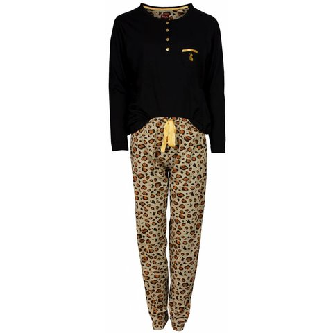 Medaillon Dames Pyjama Zwart Tijger