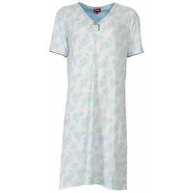 Medaillon Dames nachthemd MENGD1301B-Blauw-L14