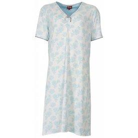 Medaillon Dames nachthemd MENGD1301B-Blauw-O16