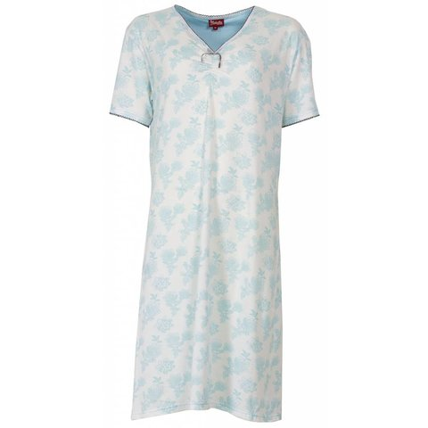 Dames nachthemd MENGD1301B-Blauw-O16