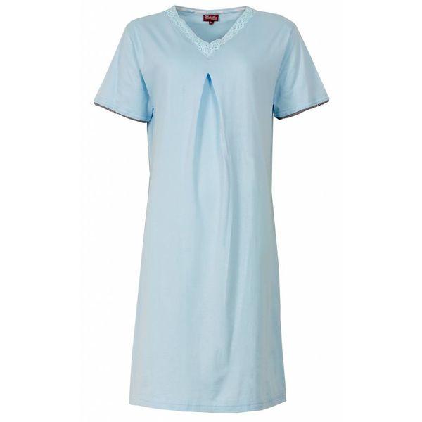 Medaillon Dames nachthemd MENGD1303B Blauw O16