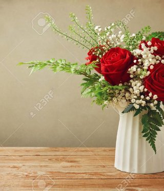 Woody Rose flower bouquet