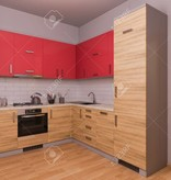 BrandVintage  Red-Brown Kitchen