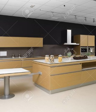 BrandVintage  Black-Cream color Kitchen