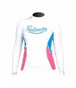 Rashguard Dames Pure Girl Wit lange mouw - Prolimit