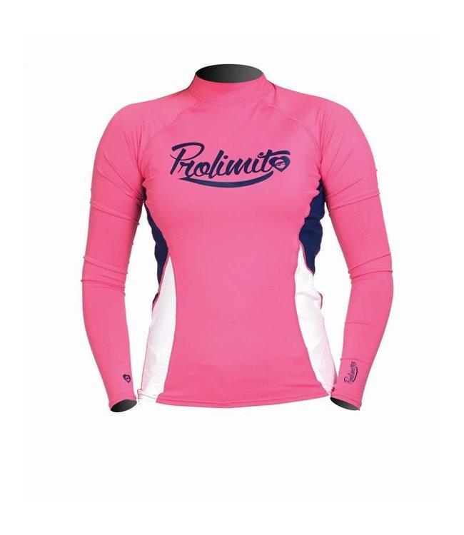 Rashguard Dames Pure Girl Roze lange mouw - Prolimit