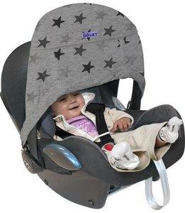 Zonnekap Babyzitje Zero+ 'Grey Stars' - Dooky