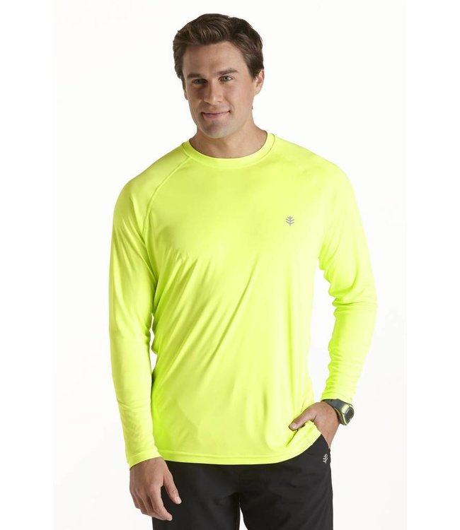Heren UV T-Shirt 'Lime' - Coolibar