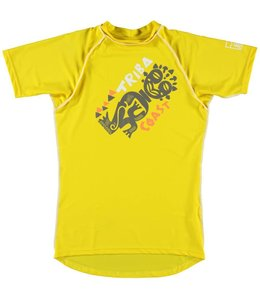 UV shirt Heren korte mouw 'Triba Coast' geel - Sonpakkie