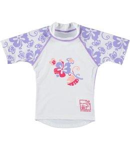 UV Zwemshirt meisje Flower Vibes paars - Sonpakkie