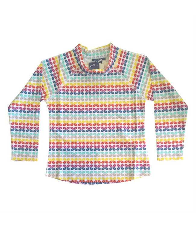 UV werend Shirt 'Rainbow Geo' lange mouwen- Sandy Feet