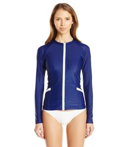 Navy Zip Up Rashguard - Cabana Life