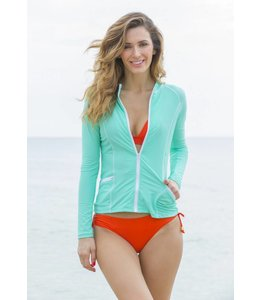 Aqua Zip Up Rashguard - Cabana Life