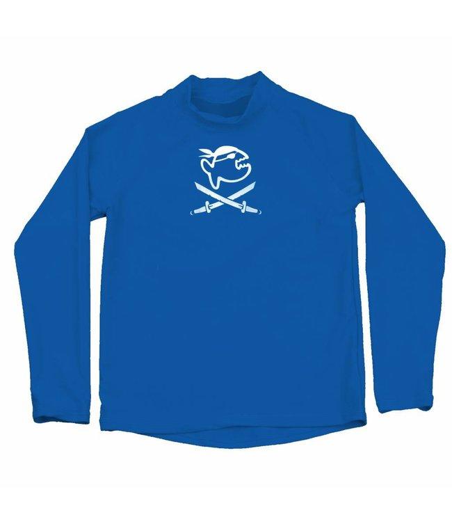 UV werend shirt kind blauw (LS) 6-14jr - IQ-UV
