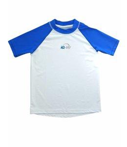 UV werend shirt blauw wit - IQ-UV