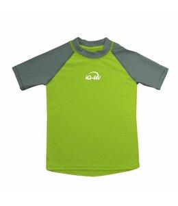UV shirt olijfgroen donkergroen korte mouw- IQ-UV