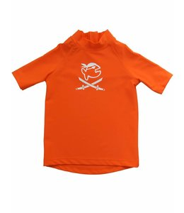 UV shirt oranje korte mouw piraat - IQ-UV