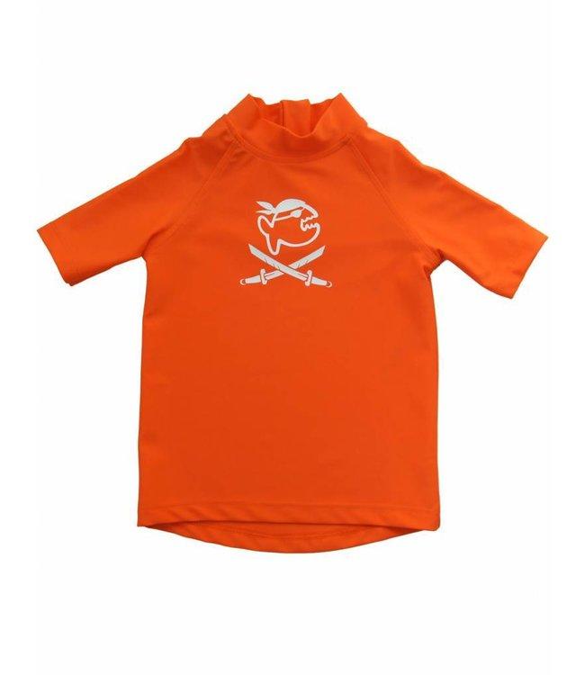 UV shirt oranje korte mouw piraat - IQ-UV