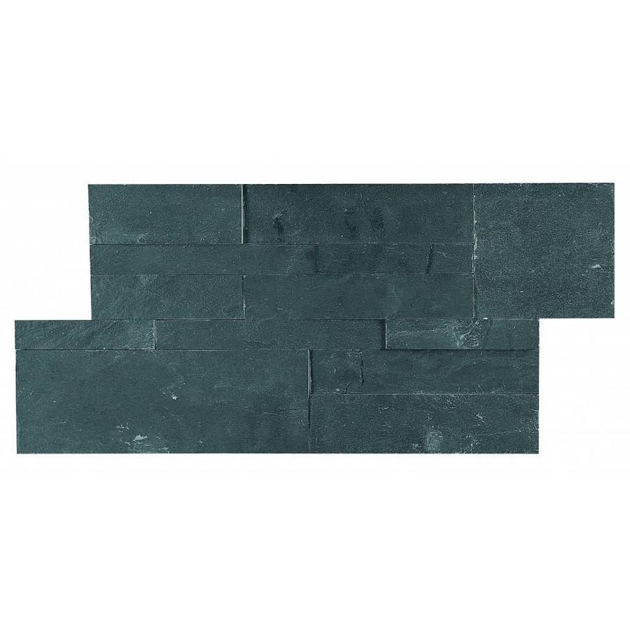 Mozaiek: Dekostock Estratos Zwart 18x35cm