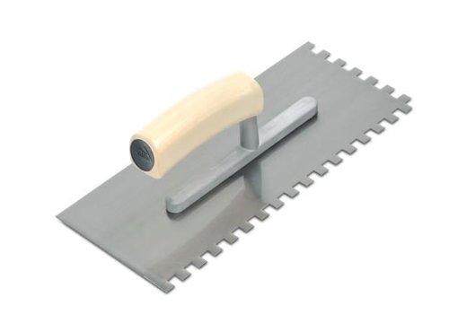 Rubi lijmspaan staal 28 cm 6x6 mm open houten handvat rechthoekig