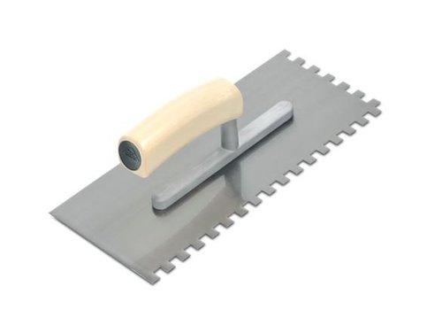 Rubi lijmspaan staal 28 cm 8x8 mm open houten handvat rechthoekig