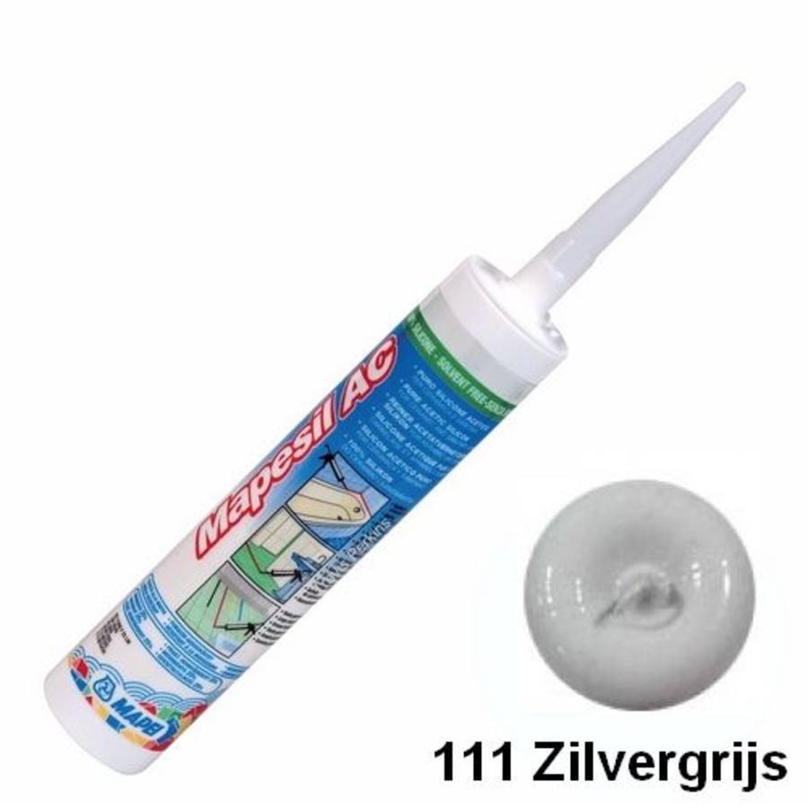 Mapei Mapesil AC 111 310 ml siliconenkit zilvergrijs