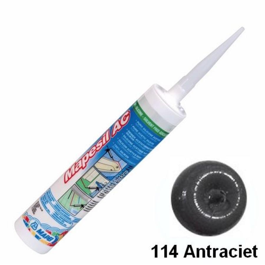 Mapei Mapesil AC 114 310 ml siliconenkit antraciet