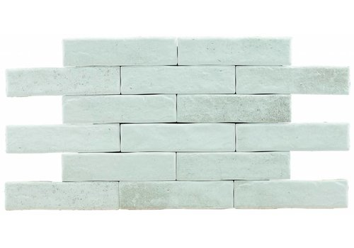 Brick: Pamesa Brickwall Wit 7x28cm