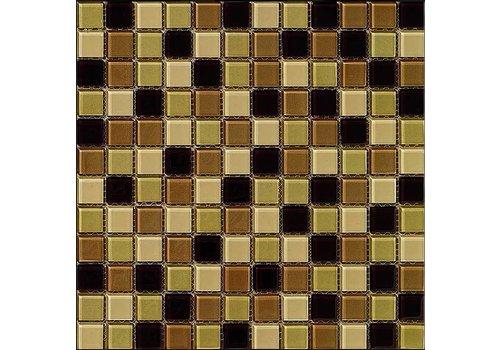 Dekostock malla christal 29,8x29,8 beige brillo mozaiek