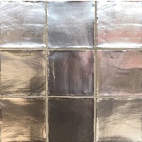 Wandtegel: Dreamtile Handmade metalic Grijs 13x13cm