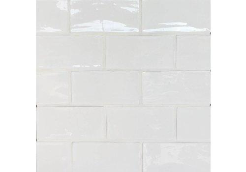 Wandtegel: Dreamtile Handmade glossy Wit 7,5x15cm