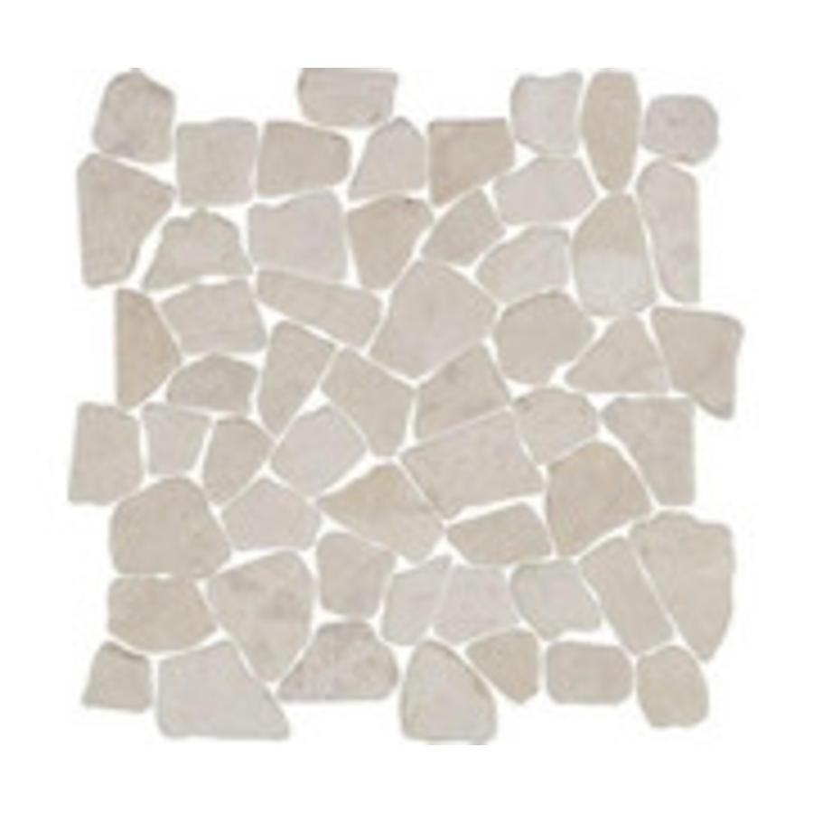 Mozaik 30x30x1,2 cm interlock crazy beige white
