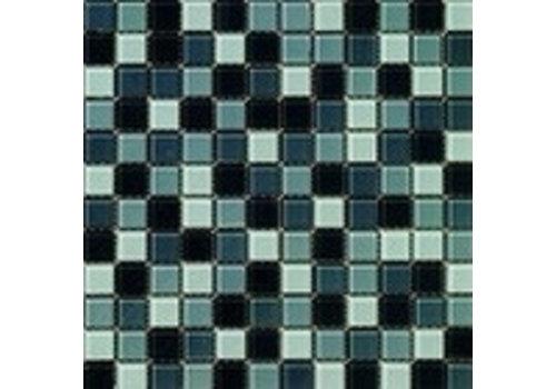 Dekostock malla christal 29,8x29,8 gris brillo mozaiek