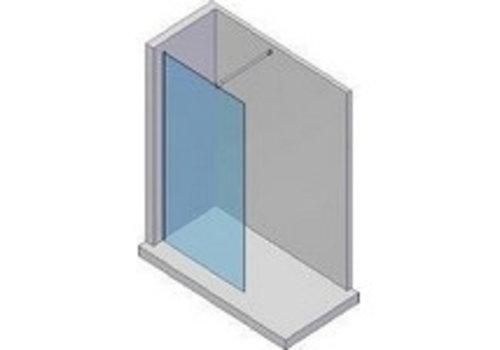 LW Base inloopdouche 90 cm behandeld glas 8 mm