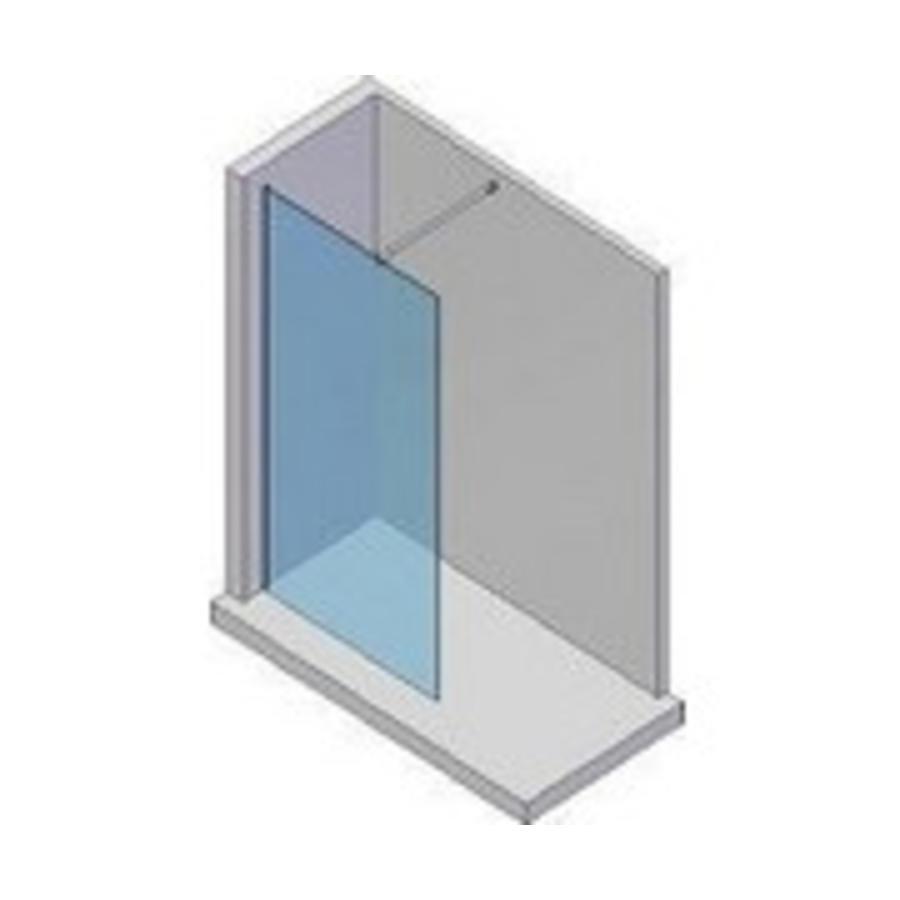 LW Base inloopdouche 120 cm behandeld glas 8 mm