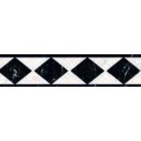 Strip: Cinca Imperial Zwart 6,5x25cm