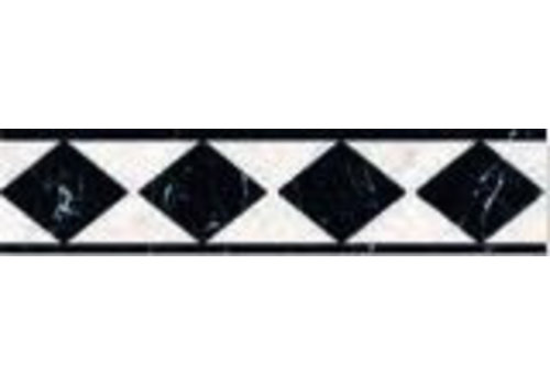 Strip: Cinca Imperial Zwart 8x33cm